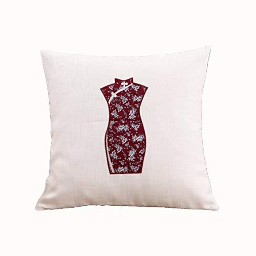 Ms.reia cuscino cheongsam manuale divano ricamato ufficio seggiolino auto vita 100% cotone cotone e lino imbottiti 45x45 cm