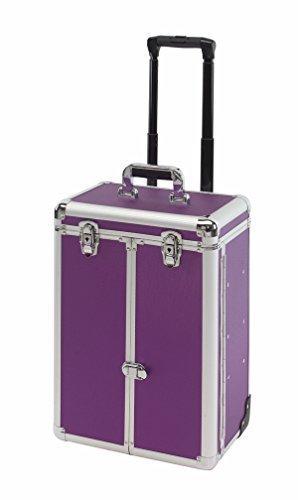 Mallette valise trolley valise à Aluminium, Beauty Coiffeur Denver Violet à