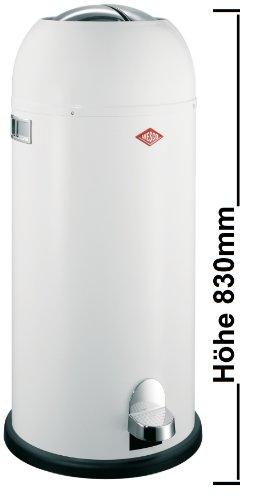 Preisvergleich Produktbild Wesco Kickmaster maxi Mülleimer, 40 Liter, Farbe: weiss