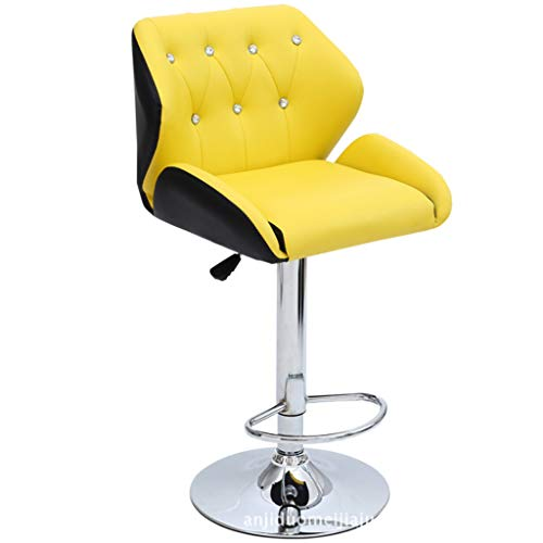 Jizhen Gaming Stuhl Racing Style High-Back PU Leder Bürostuhl Computer Schreibtisch Stuhl Executive und ergonomischen Stil Drehstuhl mit Kopfstütze und Lordosenstütze (gelb) -