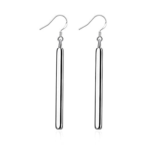 Fashion Straight Shape Silver Earrings by Hen night