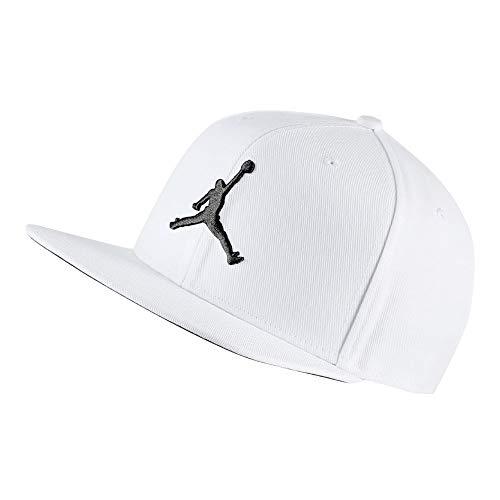 b2e8f024e5346 Nike Jordan Pro Jumpman Snapback Cap Unisexe Adulte, White Black, Taille  Unique