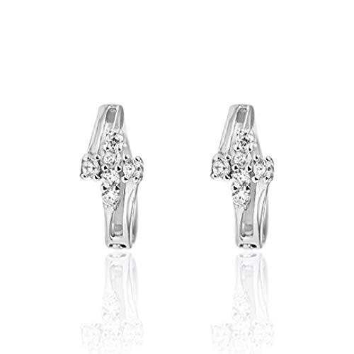 ZhongDa Ohrringe, S925 Silber Neue Persönlichkeit Ohrringe, kreative Overlay koreanischen Trend Mode Ohrringe - Overlay Kreuz