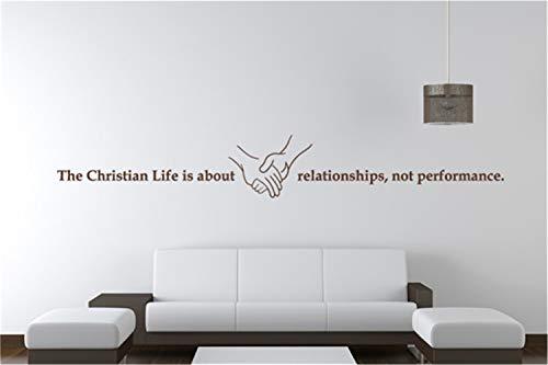 wandaufkleber kinderzimmer mädchen Das christliche Leben ist über Beziehungen nicht Leistung für Wohnzimmer