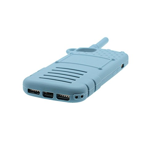 Custodia iPhone 7, 3D Cartoon Telefon Cover TPU protettivo flessibile alla moda Case per iPhone 7, Shell iPhone 7 copertura 4.7 pollici Graffi la polvere resistente blau