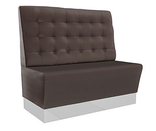 GGM Möbel Chicago Gastro Sitzbank 120x110cm | Dunkelbraun | Chesterfield | Gastrobank Dinerbank Polsterbank Bistro Lounge Bank Dinermöbel Loungemöbel