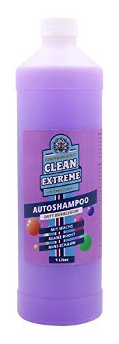 CLEANEXTREME 1L Autoshampoo Bubblegum Duft - Konzentrat 1:100 mit Wachs Versiegelung + Glanzverstärker