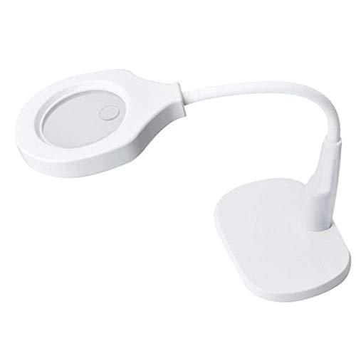 Toupifama 5-fache Lupenleuchte - Tisch- und Schreibtischlampe mit ultrahellem energiesparendem LED-Licht, großartiger Freisprech-Lupe zum Lesen, Hobby, Basteln, Werkbank, Diamant-Art