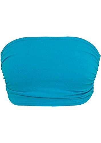 URBAN CLASSICS - Ladies Bandeau Top (turquoise) Turquoise