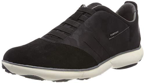 Geox u nebula b, scarpe da ginnastica basse uomo, nero (black c9999), 46 eu
