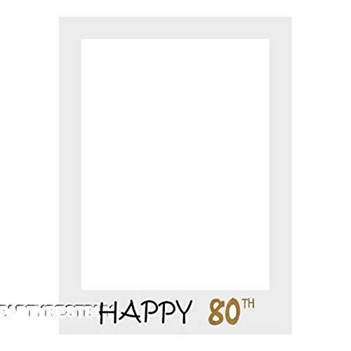 hmen Neueste Happy Birthday 30. 40. Photo Booth Requisiten 30 40 50 Jahre Geburtstag Frame Photo Photobooth Jubiläumsfeier Dekorationen, 80 Th ()