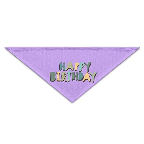 Hectwya Pet Bandanas Lovely Happy Birthday PrintingDog Geburtstag Pet Bandana Halsbänder für Hunde und Katzen