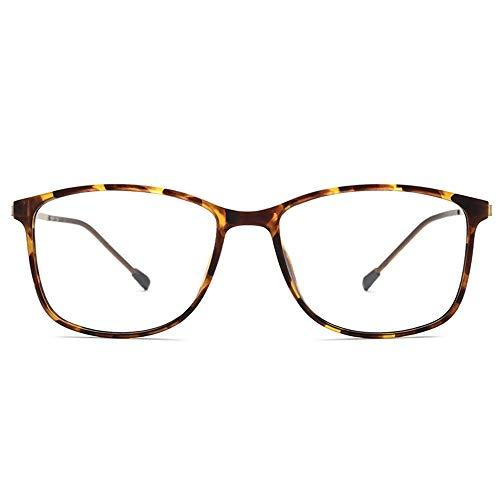 Easy Go Shopping Herren-Sonnenbrillen aus Metall, ultraleichte quadratische Brillen für Frauen, Neuer schraubenloser Spezial-Scharnier-Vollformat-Brillengestell Sonnenbrillen und Flacher Spiegel