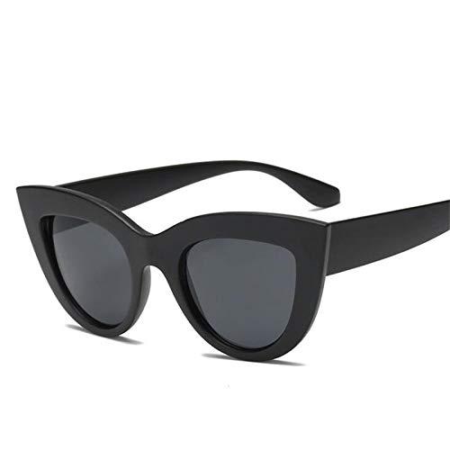 WWVAVA Sonnenbrillen Cat Eye Frauen Sonnenbrillen Getönte Farblinse Männer Vintage Shaped Sun Glasses Weibliche Brillen Blaue Sonnenbrille, Bdoublegray