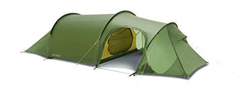 Nordisk - Oppland PU vielseitiges Zelt, Tunnelkonstruktion, Nylon Rip Stop mit Polyurethan Beschichtung, UV 45+ Filter, 3-Personenzelt, Grün/Dusty Green