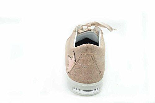Ricosta Mädchenschuhe 8103700 Celina Mädchen Halbschuh, Sneaker, Schnürhalbschuh, Glitzer nude (317)
