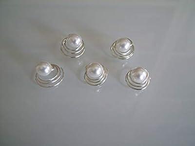 lot 5 spirales Blanc Pics/pinces/épingles/accessoires cheveux courts/détachés p robe Mariée/Mariage/Soirée/Réveillon/Fêtes femme (pas cher)