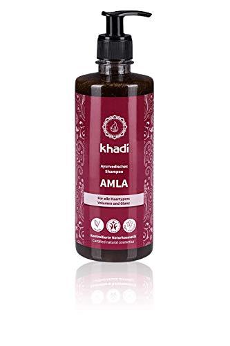 khadi Ayurvedisches Shampoo Amla 500ml I natürliches Haarshampoo für Volumen und Glanz I Naturkosmetik 100% pflanzlich