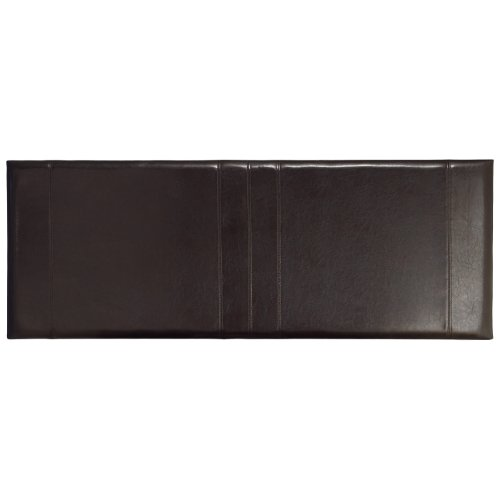 WorldStores Carmela - Headboard - Faux Leather - Fine Stitching - Kingsize - Brown