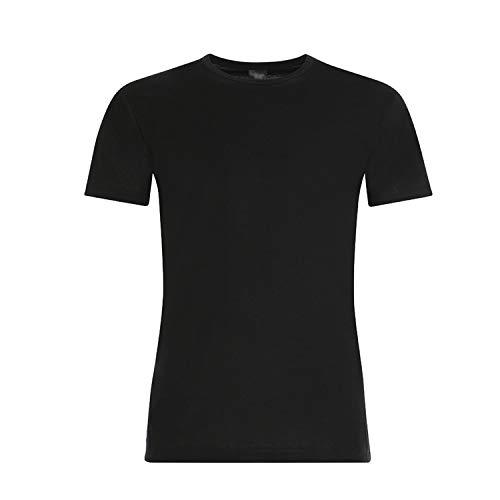 Sergio tacchini, set da 6 magliette intime uomo in cotone elasticizzato modello paricollo. nera quarta