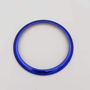 Aluminiumlegierung Multimedia Taste Kreis Ring Rahmen Abdeckung Aufkleber Dekoration Trim Für Bmw 5er 7er X3 X5 Style A Blue Ring Auto
