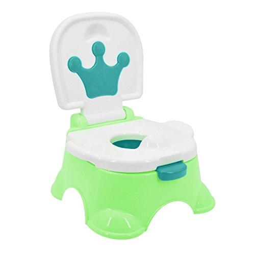 Kitechildhrrd Toilettentrainer Kinder WC Toilette Lerntöpfchen Toilettensitz Kindertoilette Töpfchen Trainer mit Musik (Grün)