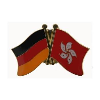 Yantec Freundschaftspin Deutschland-Ungarn mit Wappen Pin Flagge
