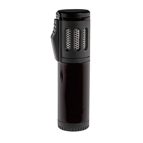 Shisha Gas Feuerzeug Triple Jet Flame mit Schutzkappe (Schwarz)