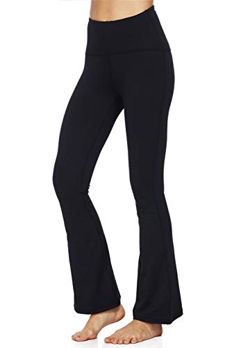 Dasbayla Damen Boot-Cut Leggings Gr. X-Large, Schwarz - Bootcut-hose