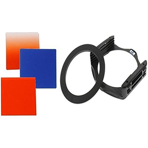equipster Resin Farbfilter Set Orange / Blau / Sunset Orange für Sigma 30mm f1.4 EX DC HSM [Canon]