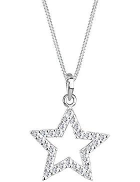 Elli Damen-Kette mit Anhänger Sterne 925 Sterling Silber Swarovski Kristall weiß Brillantschliff 0111280711_45