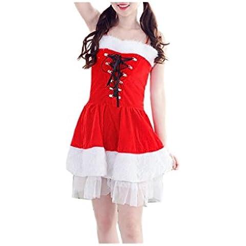 Koly_Costume Donne Santa di Natale del vestito