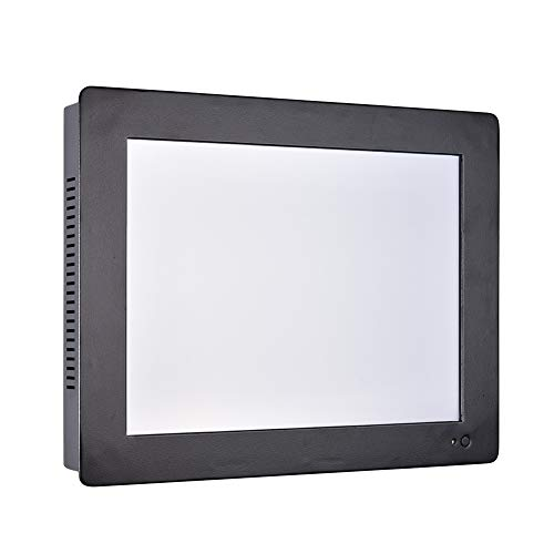12.1 Inch Industrial Touch Panel PC,All in One Computer,4 Wires Resistive Touch Screen,Windows 7/10,Linux,Intel J1900,(Black),[HUNSN WD11],[3RS232/VGA/LAN/5USB2/1USB3/Audio],(8G RAM/128G SSD)