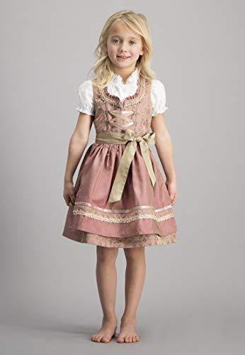 Stockerpoint Mädchen Kinderdirndl Anna Dirndl, Rosa Altrosa, 134/140 (Herstellergröße: 134-140)