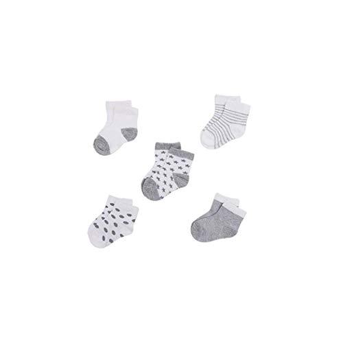 5Pairs Neugeborenes Baby Bio-Baumwolle Socken Soft Breathable Knöchel Boden 0-12months Säuglingskleinkind -