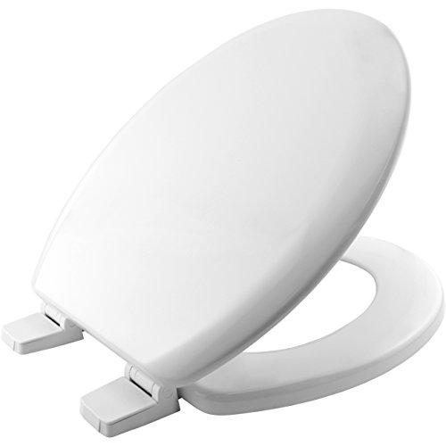 Bemis 5000AR000 CHICAGO Formholz WC-Sitz mit Kunststoff Scharnieren, Weiß, 46.6 x 37.8 x 6.2 centimeters - Bemis Wc-scharnier