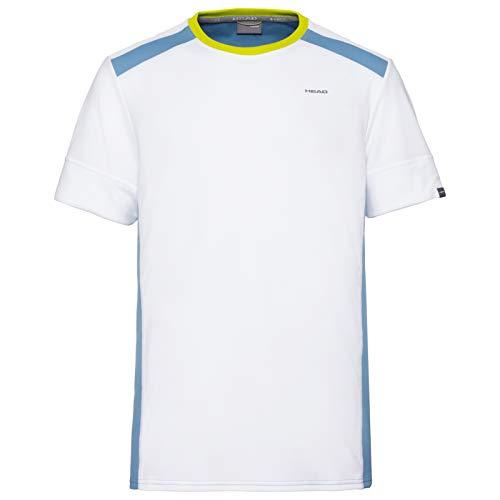 Head Uni Camiseta, Hombre, White/Sky Blue, Medium