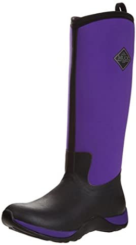 Muck Boots Arctic Adventure, Damen Stiefel, Schwarz - Black (Black/Purple), 42 EU (8 UK) (8 Extended Range)