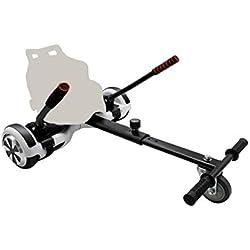 BAYZONN Silla Patinete Electrico Kart Hoverboard Hoverkart Compatible Todas Las Medidas (Blanco)