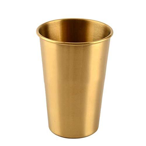 WOQUXIA 500 ml Edelstahl Single Layer kaltes Getränk Bier Tasse Wasser Wein Tasse Home Decor Vase Requisiten Tumbler -