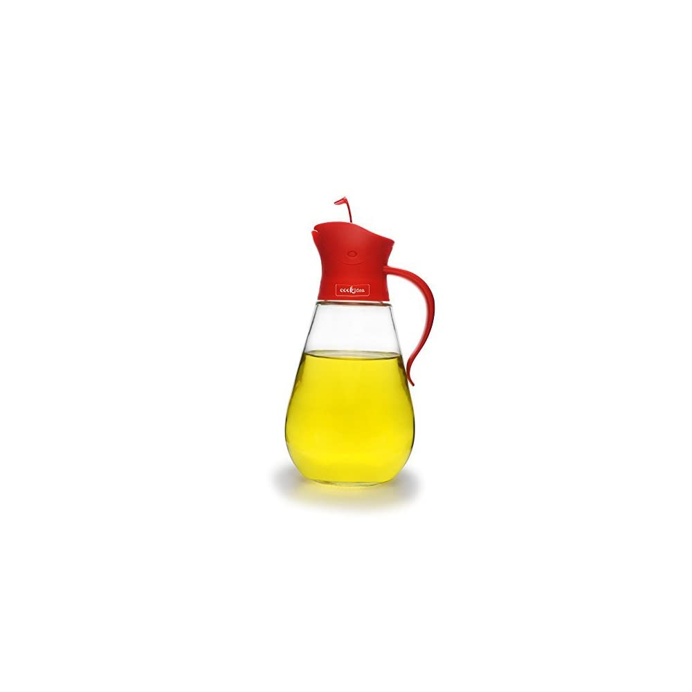 Tropffrei Glas Essig Ausgieer Flasche Von Cookidea 550 Ml Liquid Speisewrze L Spender Und Sirup Container Mit Automatischem Stopper Precise Pour Auslauf Und Rutschfester Griff