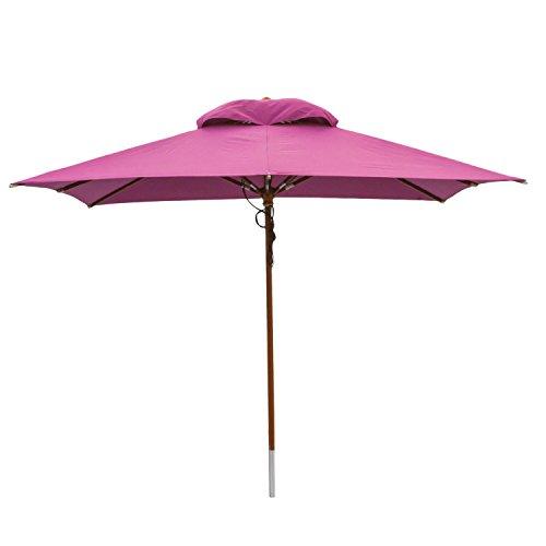 anndora® Sonnenschirm Gartenschirm Marktschirm 3x3 m eckig wasserabweisend - mit Winddach Lila Purple