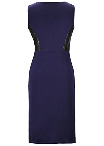 Damen Elegantes reizvolles Sleeveless Tunika-dünnes kurzes Kleid Königsblau
