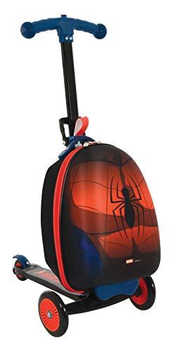 Spiderman M004064 Scootin Valigia, Rosso
