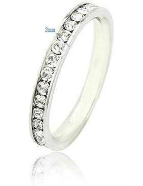 Weiß Vergoldet Zircon Kristall Damen-Ring Einfache Schmuck Klar