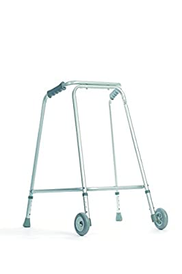 NRS Healthcare Wide Base Walking Frame, Handgrip Height 86-94 cm (34-37 inches)