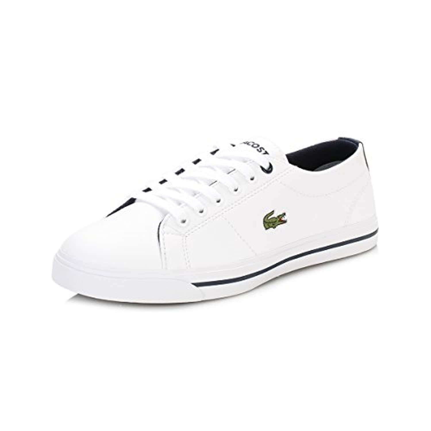 Lacoste Junior White/Navy Marcel 117 1 CAJ Trainers-UK 2