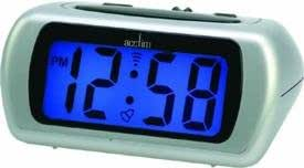 Acctim Silver LCD Alarm Clock 12340 Auric