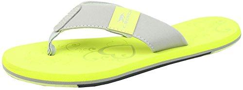 Bockstiegel KATRIN Damen Zehentrenner | Flip | 36-41 | Verschiedene Farben | Badelatschen | Strandschuhe | Zehenstegpantolette, Größe:39/UK 5.5, Farbe:Gelb - Grau