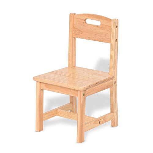 Tables CJC Chaises Ensemble, en Bois Solide Bois des Gamins Jouer, Apprentissage, en Mangeant, Blanc, Bois Couleur Solide Durable Salle de Jeux (Couleur : Couleur du Bois, Taille : Chair)